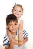Adorable brother and sister Stock Photo