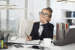 Adorable business girl working Royalty Free Stock Photo