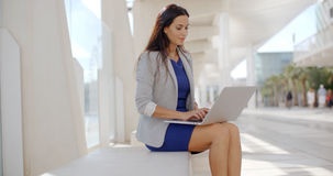 Adorable Business Woman Working on Computer Stock Photography
