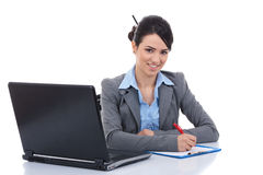 Adorable business woman working at her desk Royalty Free Stock Images