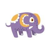 Adorable cartoon elephant character posing vector Illustration Stock Photos