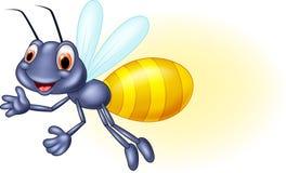 Adorable cartoon firefly waving Stock Photos