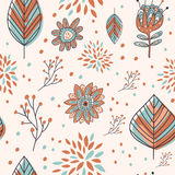 Adorable cartoon seamless pattern Stock Photo