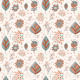 Adorable cartoon seamless pattern Royalty Free Stock Photos