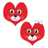 Adorable Cat Figure. An adorable cat figure with a heart face shape, as a representation of cat lovers Royalty Free Stock Photography