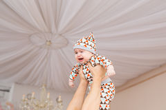 Adorable Caucasian baby. Portrait of a three months old baby boy Royalty Free Stock Photography