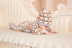 Adorable Caucasian baby. Portrait of a three months old baby boy Royalty Free Stock Photos