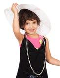 Adorable caucasian girl Stock Photos