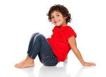 Adorable caucasian girl Stock Photography