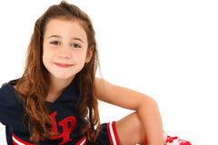 Adorable Cheerleader Stock Images