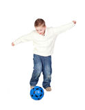 Adorable child with a ball Stock Images