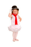 Adorable Child in Ballet Costume Stock Photos