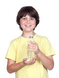 Adorable child with bottled water Stock Photo