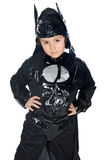 Adorable child disguised of bat stock photos
