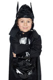Adorable child disguised of bat Royalty Free Stock Image