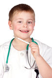 Adorable child with doctor uniform Royalty Free Stock Photo