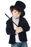 Adorable child dress of illusionist with hat Royalty Free Stock Photo