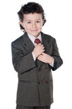 Adorable child with elegant clothes Stock Photo