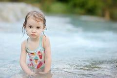Adorable child having fun on a beach Royalty Free Stock Photos