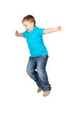 Adorable child jumping Royalty Free Stock Photos