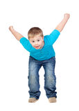 Adorable child jumping Royalty Free Stock Images