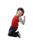 Adorable child jumping Royalty Free Stock Photography