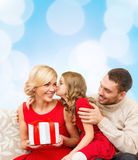 Adorable child kisses her mother Royalty Free Stock Photography