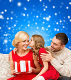 Adorable child kisses her mother Royalty Free Stock Image