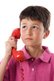 Adorable child on the phone Stock Images