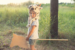 adorable child play outdoors Royalty Free Stock Photography