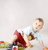Adorable child playing Stock Photo