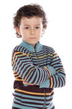 Adorable child sad Stock Photo