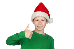 Adorable child with Santa Hat Stock Image
