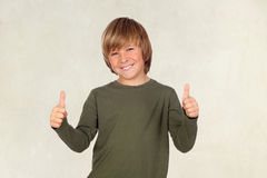 Adorable child saying OK Royalty Free Stock Photography