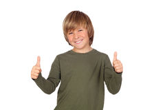Adorable child saying OK Stock Photography
