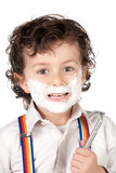 Adorable child shaving Stock Image