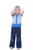 Adorable child show ok sign Stock Photography