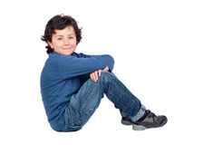 Adorable child sitting on the floor Stock Photography