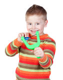 Adorable child with a slingshot Stock Photography