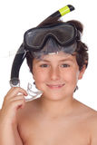 Adorable child with snorkelling equipment Royalty Free Stock Photography