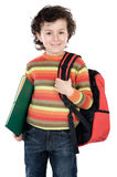 Adorable child student Royalty Free Stock Photo