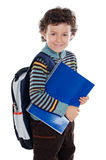 Adorable child studying Stock Image