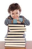 Adorable child studying Royalty Free Stock Photography