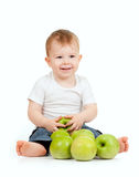 Adorable Child With Healthy Food Royalty Free Stock Photos