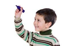 Adorable child writing Royalty Free Stock Photos
