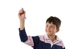 Adorable child writing Stock Photo