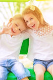 Adorable children having fun Royalty Free Stock Photos