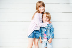 Adorable children outdoors on a nice day Stock Photography