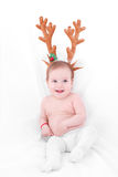 Adorable Christmas baby Royalty Free Stock Photos