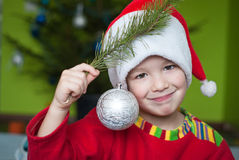 Adorable Christmas boy Stock Photography